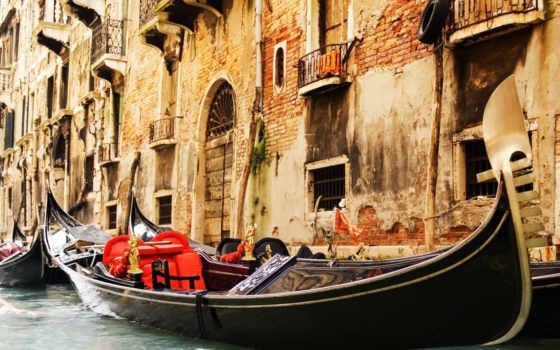 venezia, гондола, канал, гондолы, italy, фотообои,