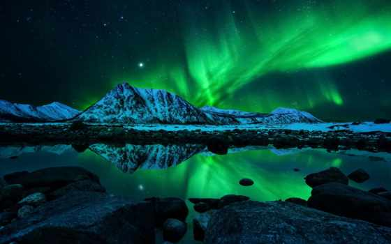 северное, сияние, norwegian, норвегия, ночь, природа, горы, aurora, звезды,