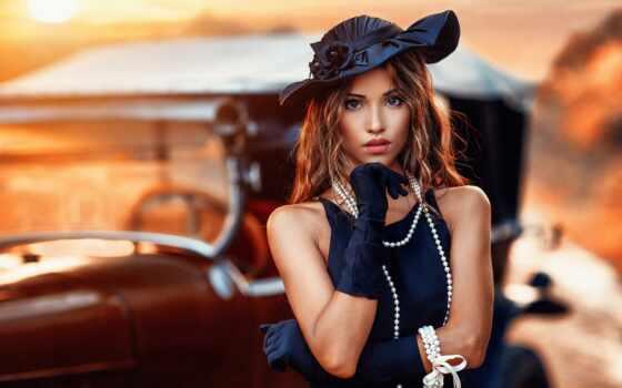 теме, девушка, pearl, фотографий, шляпа, шатенка, макияж, бесплатные, proshow, продюсер,