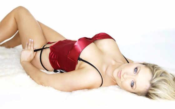 sexy, stars, блонд, žena, gemma, merna, prádle, červeném, plochu, bildes,
