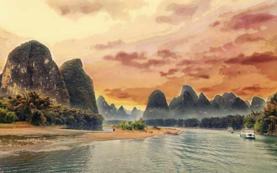 china, река, see, гора, frend, social, сайт, handpick