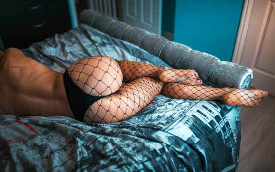 nathanpace, ложь, side, pantyhose, женщина, спина, leg, thong, topless, general