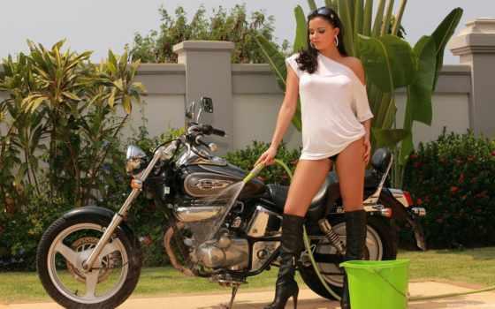 девушки, мотоциклы, honda