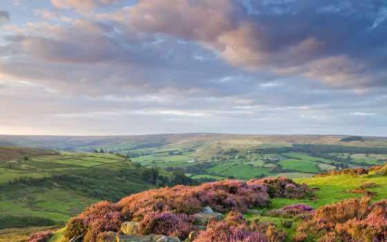 небо, камни, серое, скалы, oblaka, холмы, тучи, цветы, горы, природа,