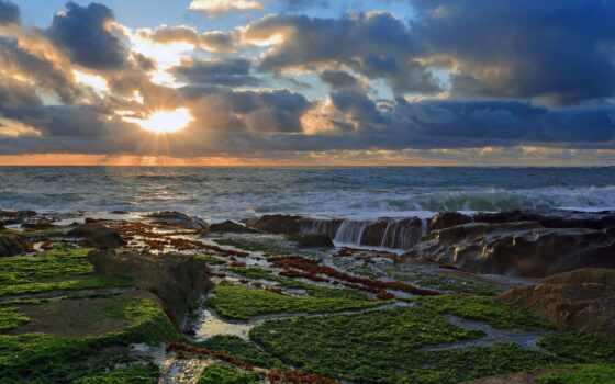 пейзажи -, закат, oregon, сша, usa, landscapes, море, state,
