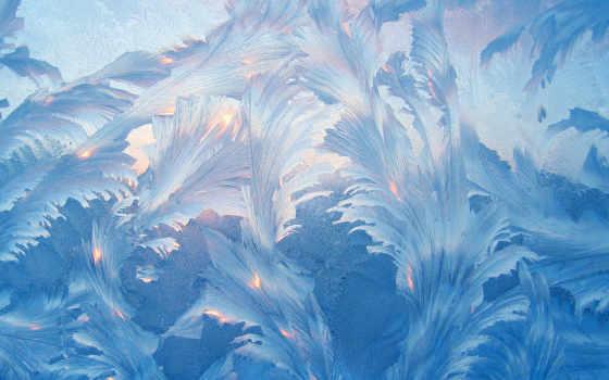 стекле, узоры, красивые, морозные, голубые, one, iconia, acer, winter,