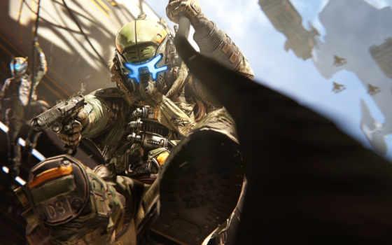 titanfall, пистолет, шлем, пилот, attack