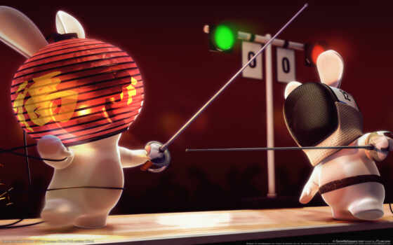 raving, rayman, rabbids, party, vous, house,