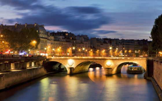 париж, sena, франция