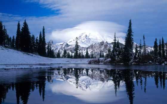 фотообои, озеро, зимние