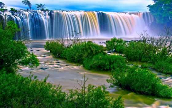 разрешения, водопад, высокого, картинка, фотографий, пейзажи -, landscape,