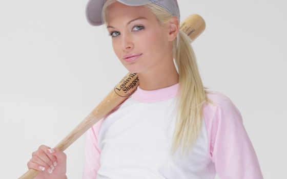 шапка, bat, blonde, baseball, бейсболка, взгляд, спорт, franziska, iphone, компьютера, губы,