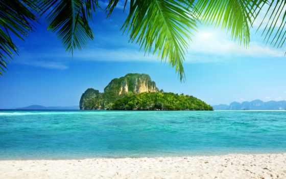 море, thai, остров, krabi, poda, tropics, природа, добавить, тайланде, необитаемый, баркасе,