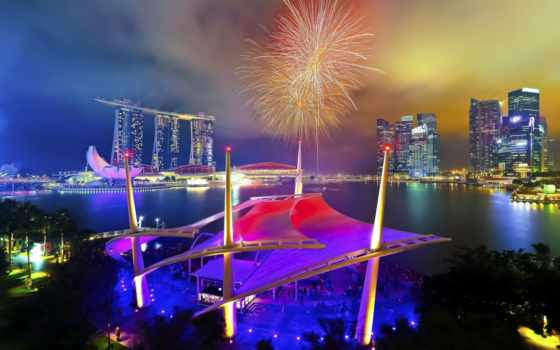 парад, день, singapore, national, fireworks, янв,