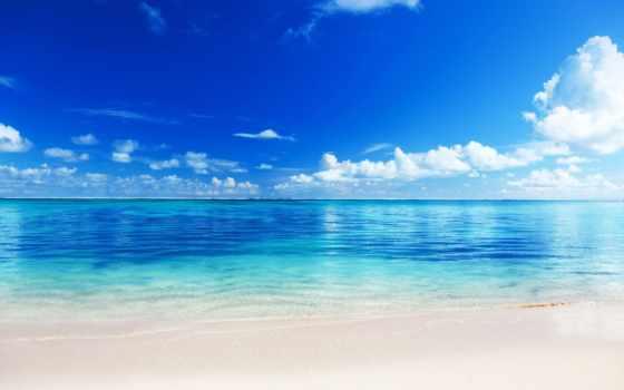 playa, arena, una, мар, puzzle, pantalla, agua, peque, cristalina,