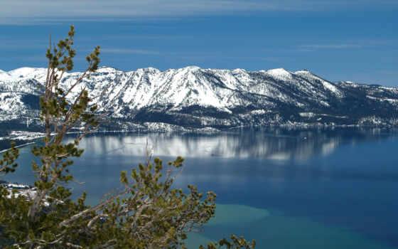 ski, озеро, фоны, water, часть, небо, категории, главная,