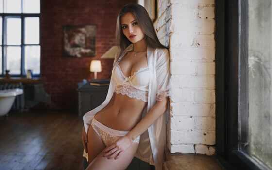 девушка, белье, lower, красивый, сексуальный, pretty, фото, отображаться, white, slim, dmitriy