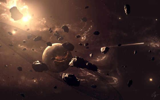 планеты, метеориты, астероиды, космос, asteroids, картинку, небосвод, картинка, кнопкой, атака,
