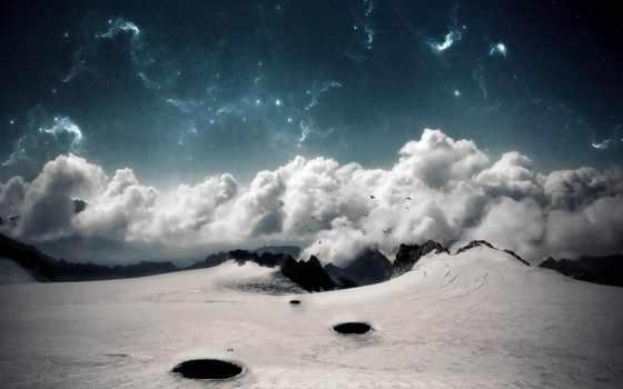 oblaka, chmury, krajobrazy, tapety, огонь, дек, се, над, ziemia, космос,