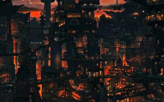 steampunk, город, free, images, pinterest, desktop, cityscapes,