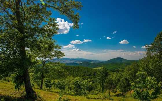 природа, красивые, горы, trees, панорама, красивая, небо, landscape, камни,