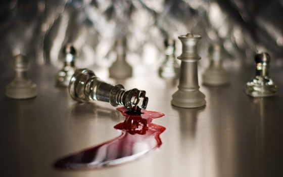 chess, кровь, фигуры, game, рисунки,