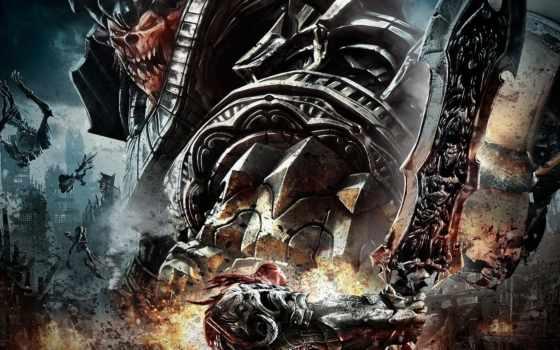 darksiders, wrath, war, картинка, монстры, войны, нежить, меч, игры,