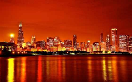 chicago, город, architecture