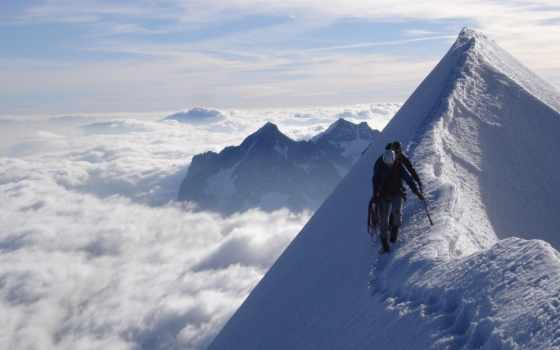 небо, люди, горы