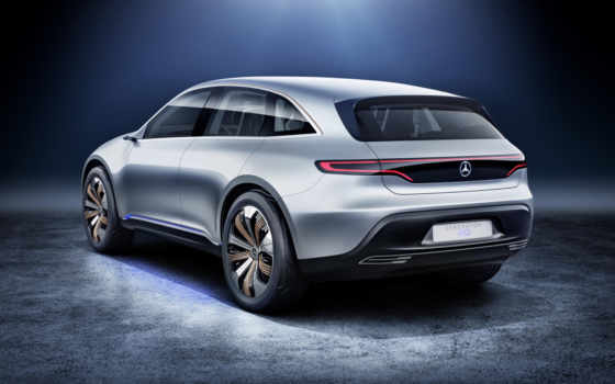 mercedes, eq, поколение, benz, electric, concept,