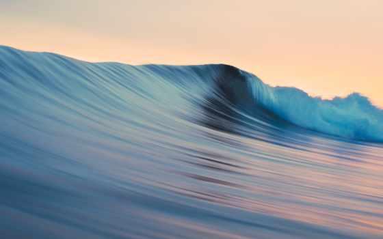 ,волна, море, голубой,