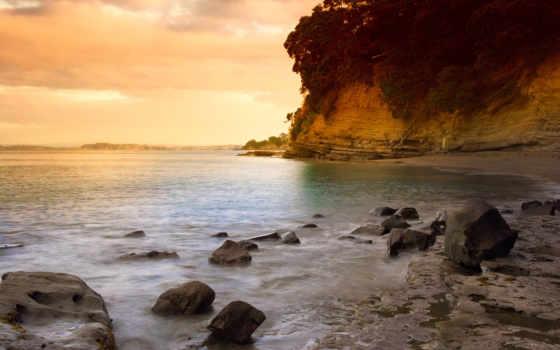 природа, фотоальбом, чудесная, cove, день,