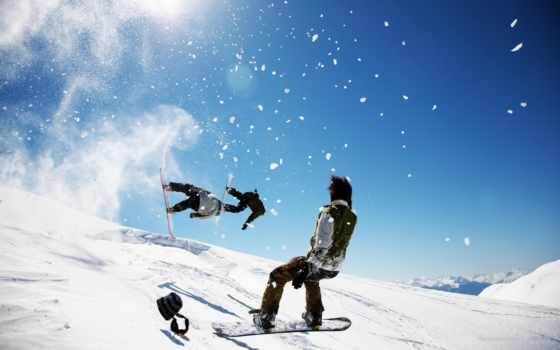 спорт, взгляд, winter, extreme, гора, сноуборд