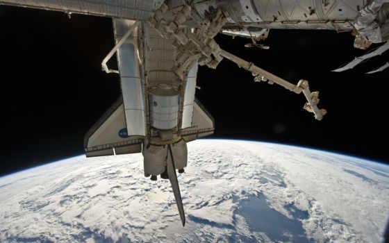 шатл, облака, поверхность, стыковка, планета, станция, nasa, space, discovery, shuttle, outer, international,