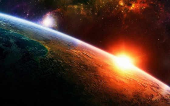 солнце, земля Фон № 24552 разрешение 1920x1080