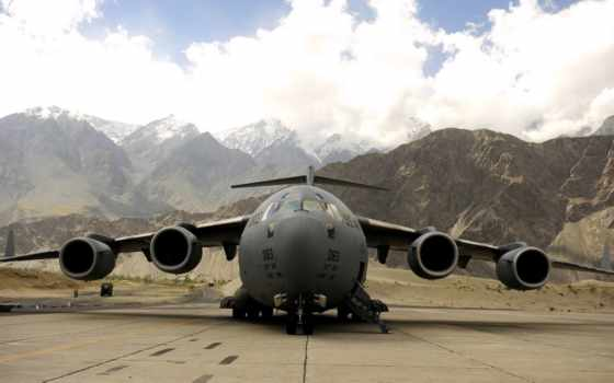 military, plane, sky