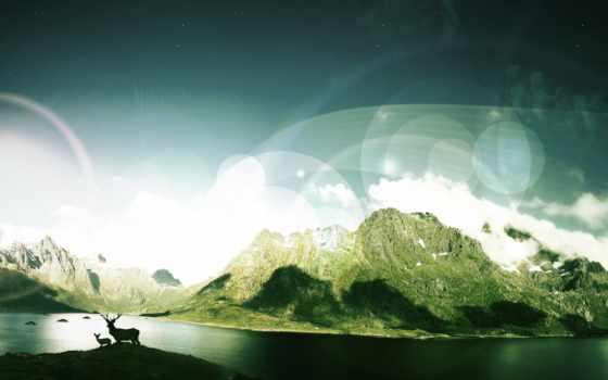 долина, картинка, корабль