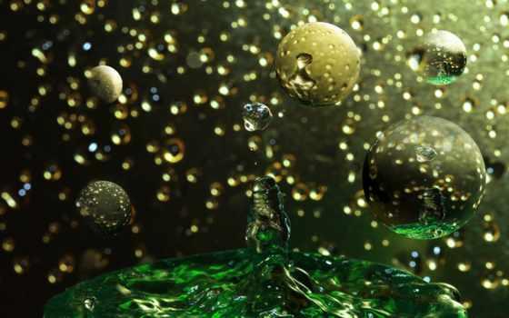 shapes, природа, drops, water, жидкий, spots, bubbles, bokeh,