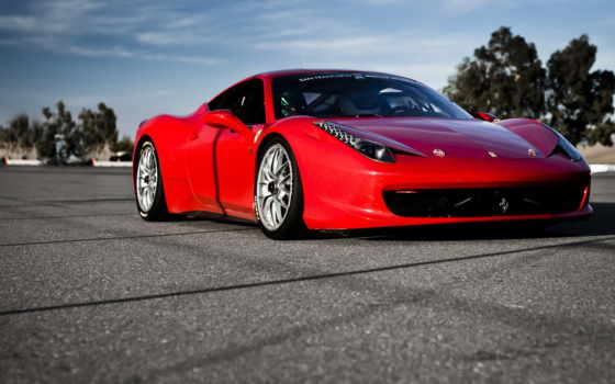 ferrari, авто, машины, машина, красная, italia,