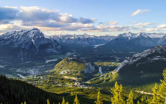 banff, канадский, альберта, канада, горы, national, park, desire, province,