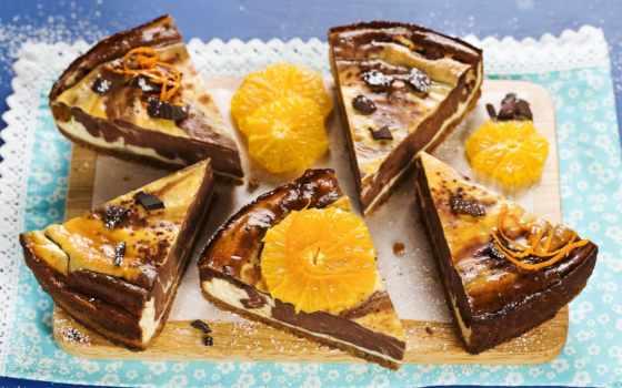 чизкейки, chocolate, stock, торт, оранжевый, еда, фото, fotos,