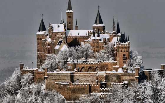 замки, германии, castle, старинные, красивые, которые, гогенцоллерн, часть,
