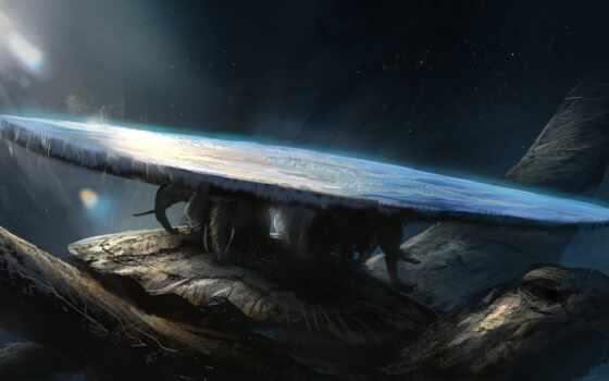фантастика, loebn, рисунок, черепаха, дэнис, planet, космос, слон, earth, world, подборка