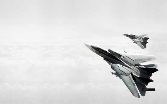 самолеты, небо, ace, combat, смотрите, авиация, tomcat,