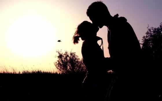 солнца, silhouette, любви, восход, любители, sun, поцелуи, lovers, kissing, love, картинка,