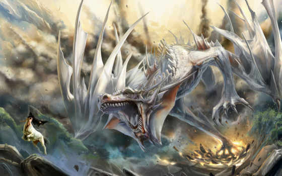 дракон, картинку, драконов