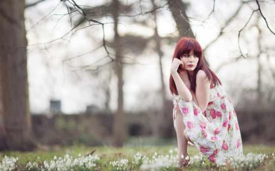 платье, redhead, гороскоп, весна, women, девушка, сегодня, интуицию,