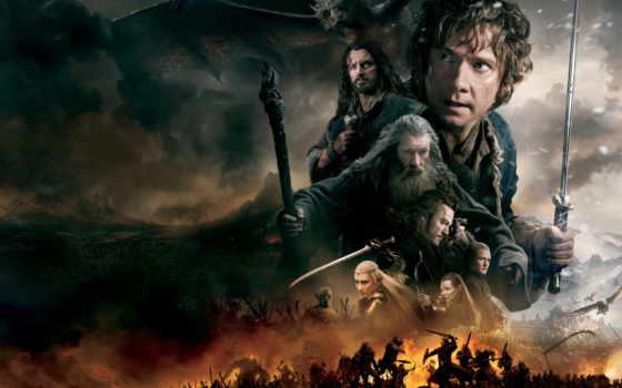 hobbit, битва, пять, armies, пяти, воинств, меч, кинотеатр,