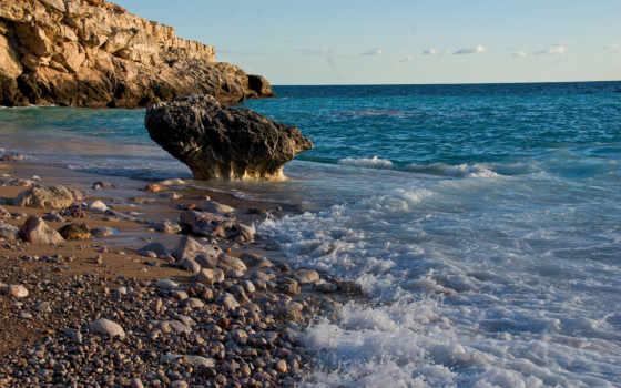 surf, камни, море, ocean, побережье, склон, эрозия, пенка, block, land,