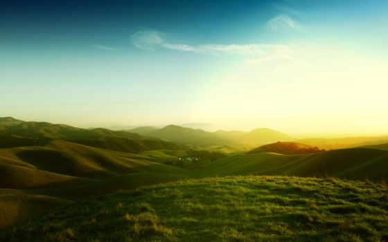 природа, desktop, небо, landscape, hills,